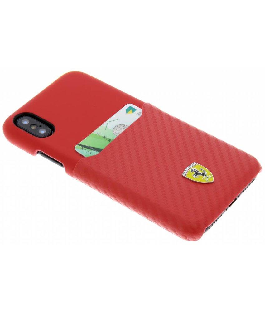 Ferrari Carbon Card Hardcase iPhone Xs / X