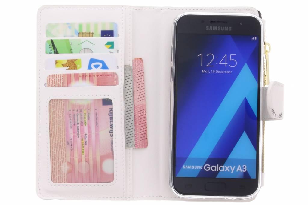 Conception Mandala Marbre Cas De Portefeuille De Luxe Pour Samsung Galaxy A3 (2017) u7CLg