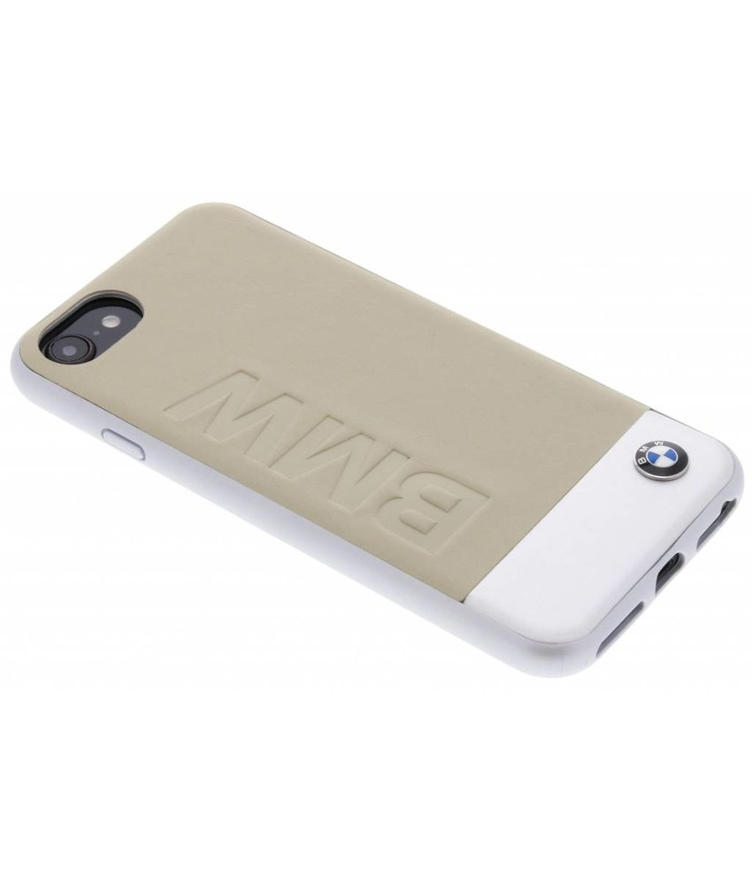 BMW Beige Logo Leather Hard Case iPhone 8 / 7
