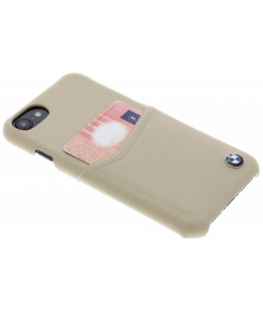 BMW Beige Real Leather Card Case iPhone 8 / 7 / 6s / 6
