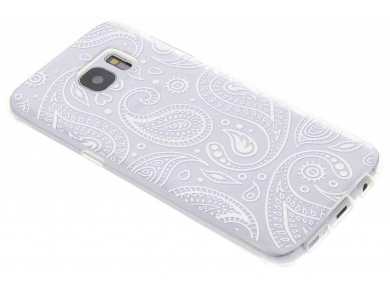 Festival Paisley Coque Tpu Transparent Pour Samsung Galaxy J1 vW4nURO