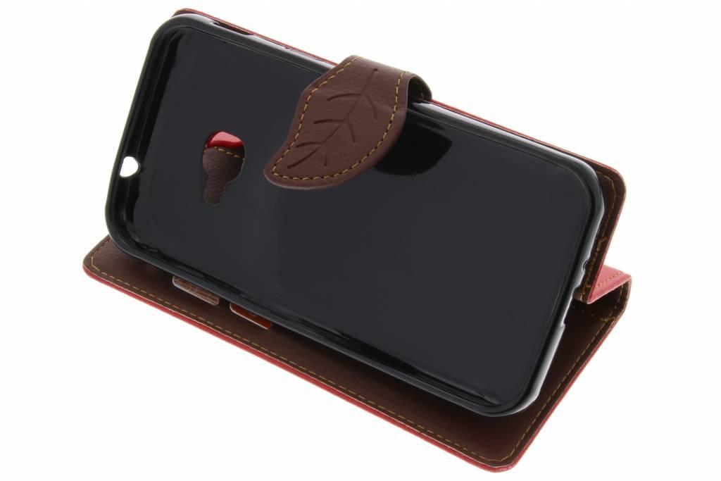 Conception Feuille Rouge Tpu Type De Livre Pour Le Xcover Samsung Galaxy 4 0whcB8c1a
