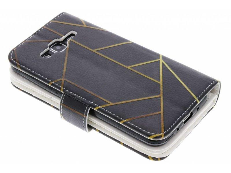 Conception Graphique Noir Portefeuille Pour Tpu Bord Samsung Galaxy S gwpM12