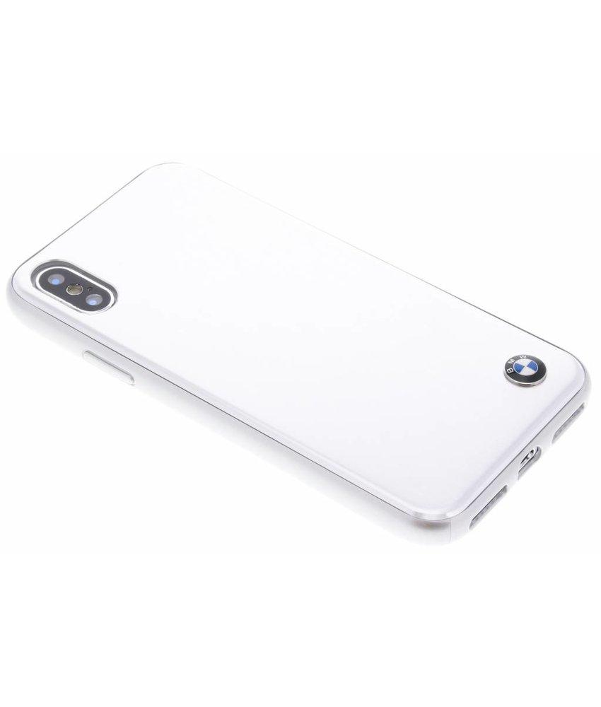 BMW Zilver Brushed Aluminium Hard Case iPhone Xs / X