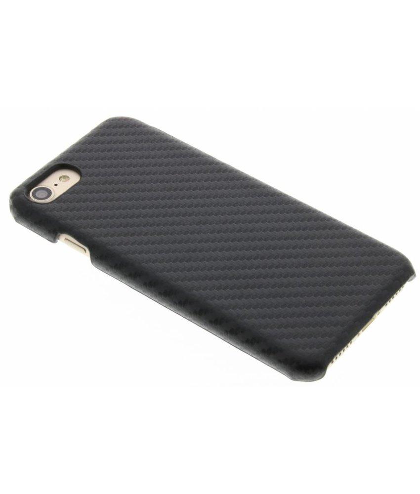 Zwart carbon look hardcase hoesje iPhone 8 / 7