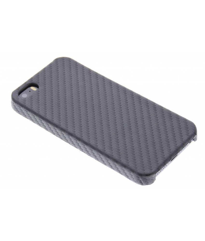 Zwart carbon look hardcase hoesje iPhone 5 / 5s / SE