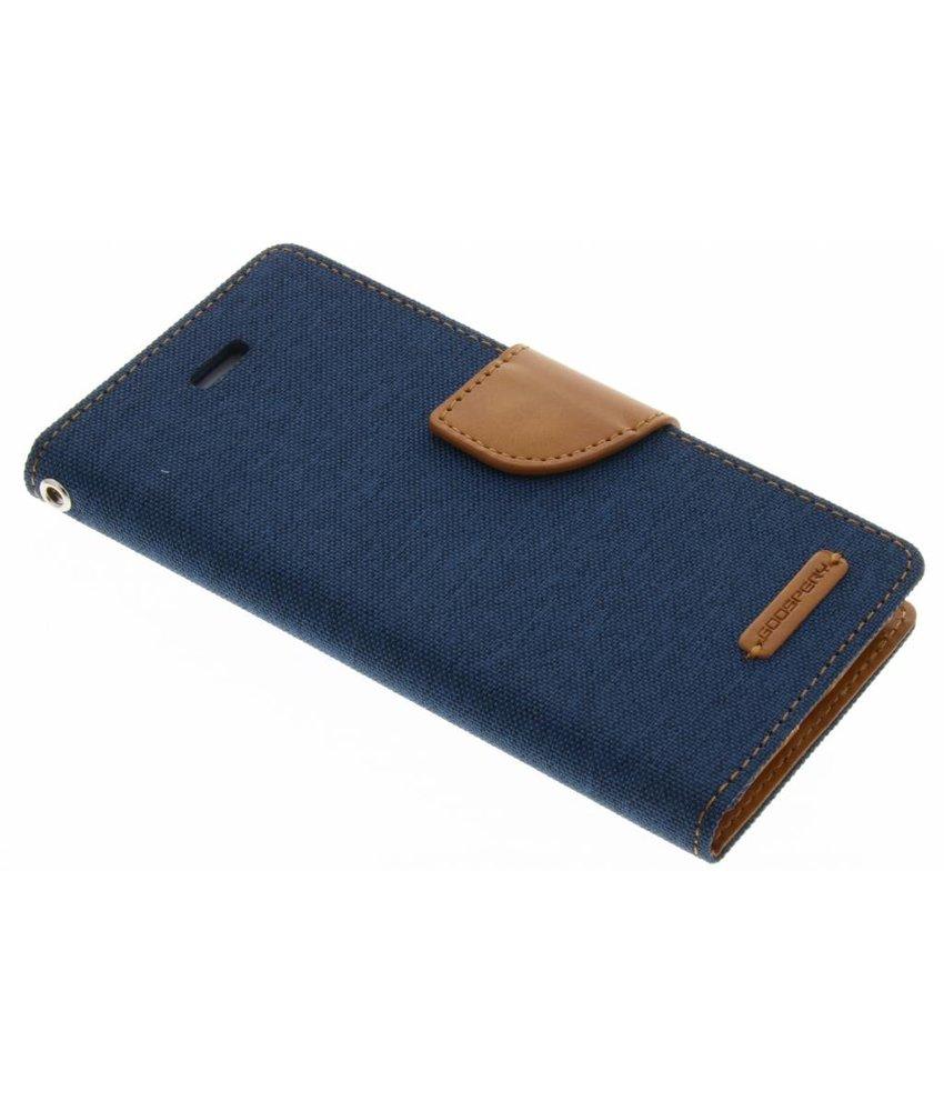 Mercury Goospery Canvas Diary Case iPhone 8 / 7 - Blauw