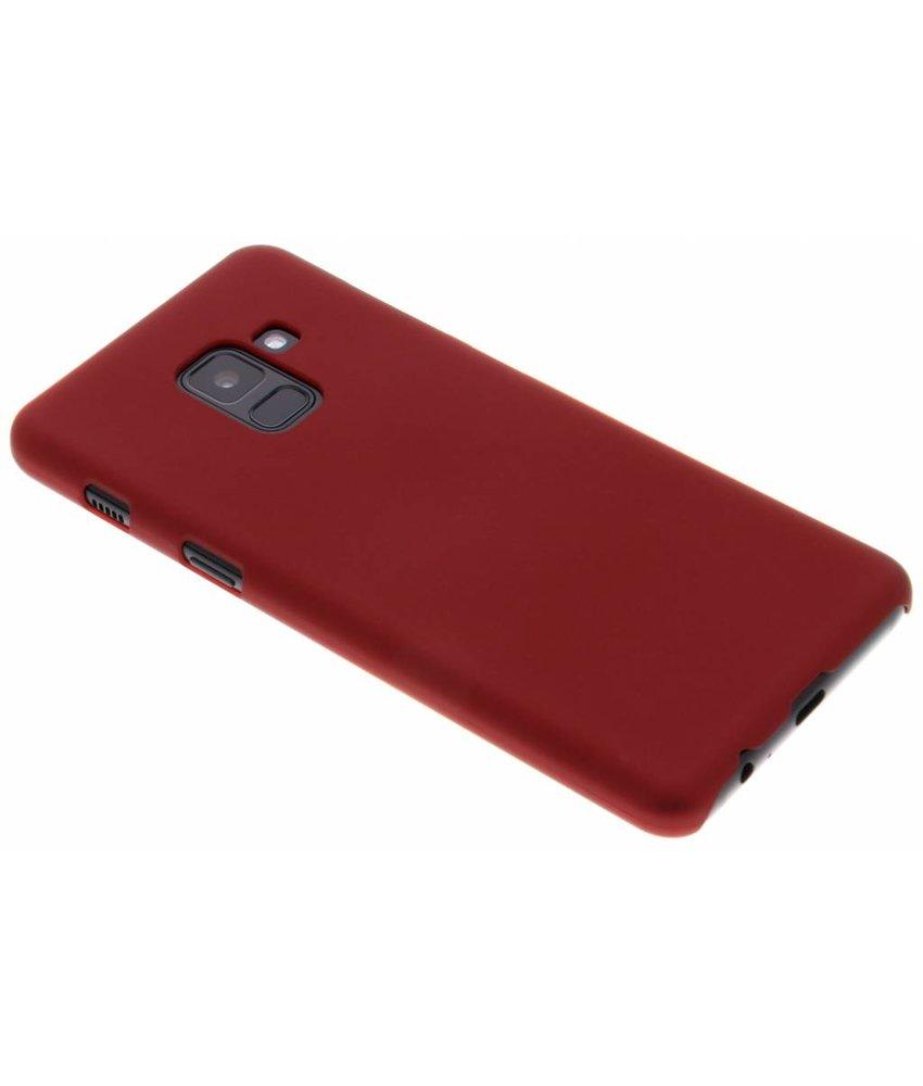 Plaine Rouge Couverture Étui Rigide Pour Samsung Galaxy A8 (2018) PGGJRZeDt