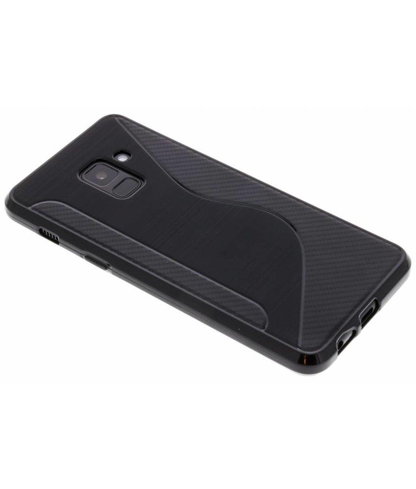 Zwart S-line TPU hoesje Samsung Galaxy A8 (2018)