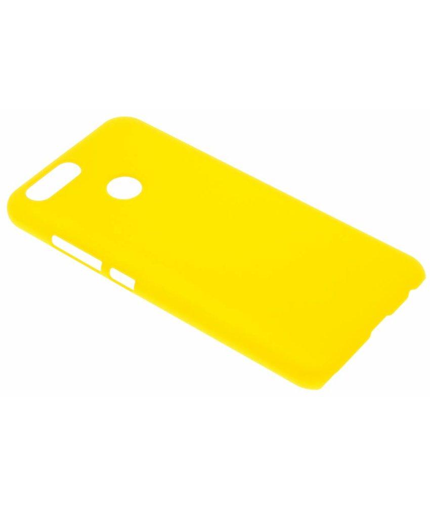 Geel effen hardcase hoesje Huawei Nova 2