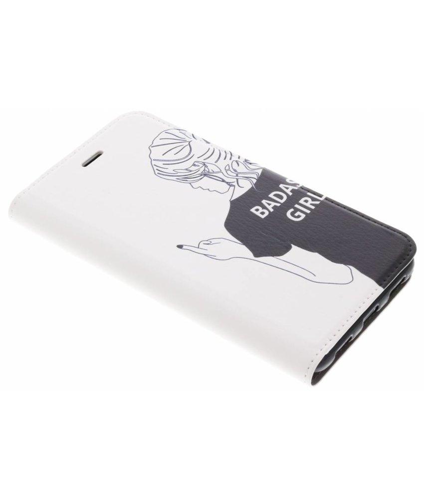 Fashion Design TPU Booklet Huawei Y7 (2017)