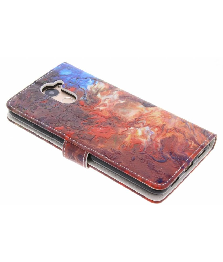 Design TPU booktype hoes Huawei Y7 Prime