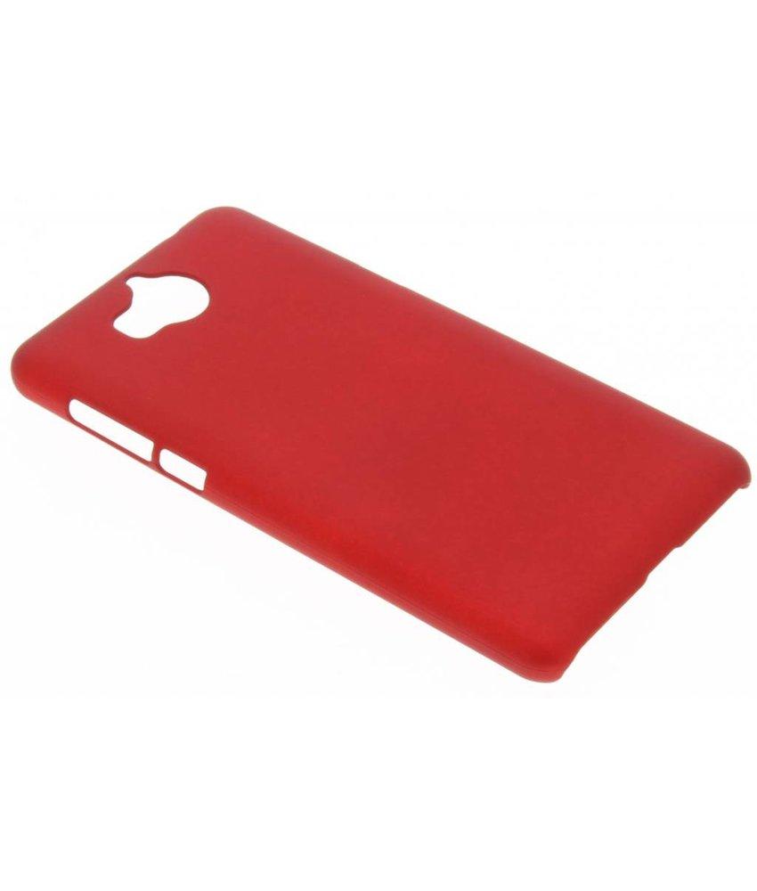 Rood effen hardcase hoesje Huawei Y6 (2017)