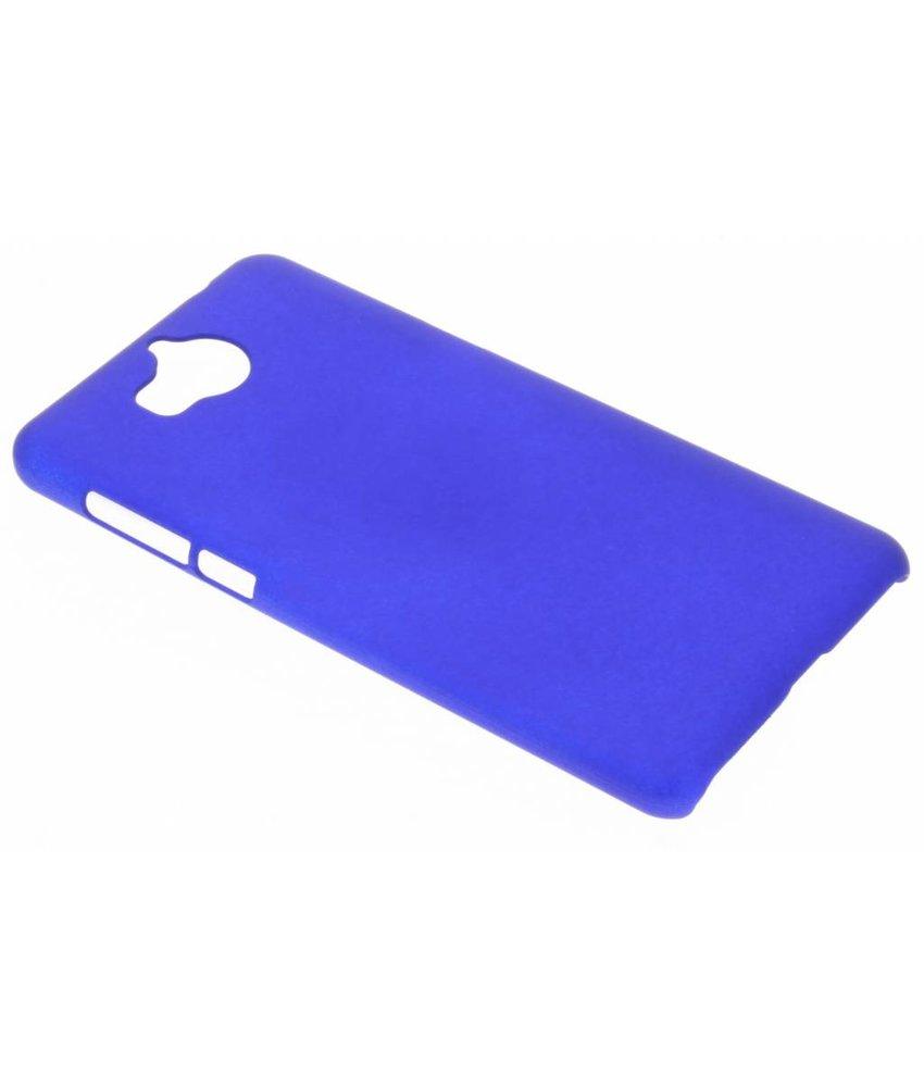 Blauw effen hardcase hoesje Huawei Y6 (2017)