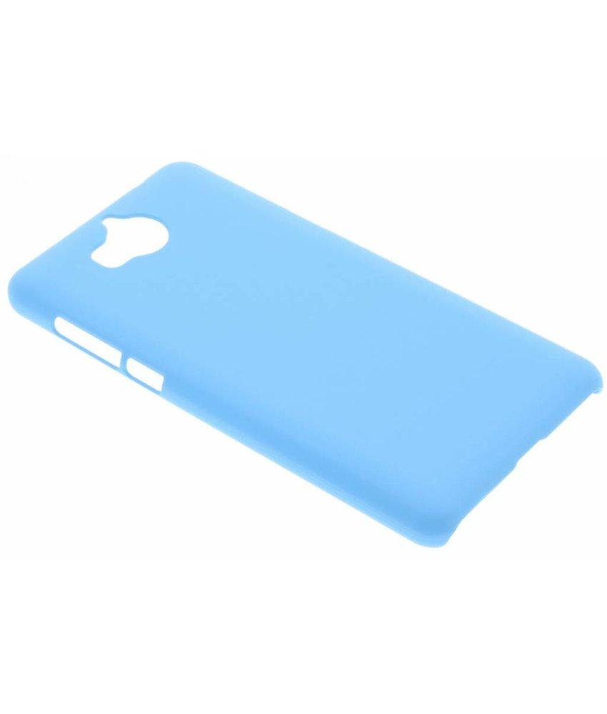 Turquoise effen hardcase hoesje Huawei Y6 (2017)