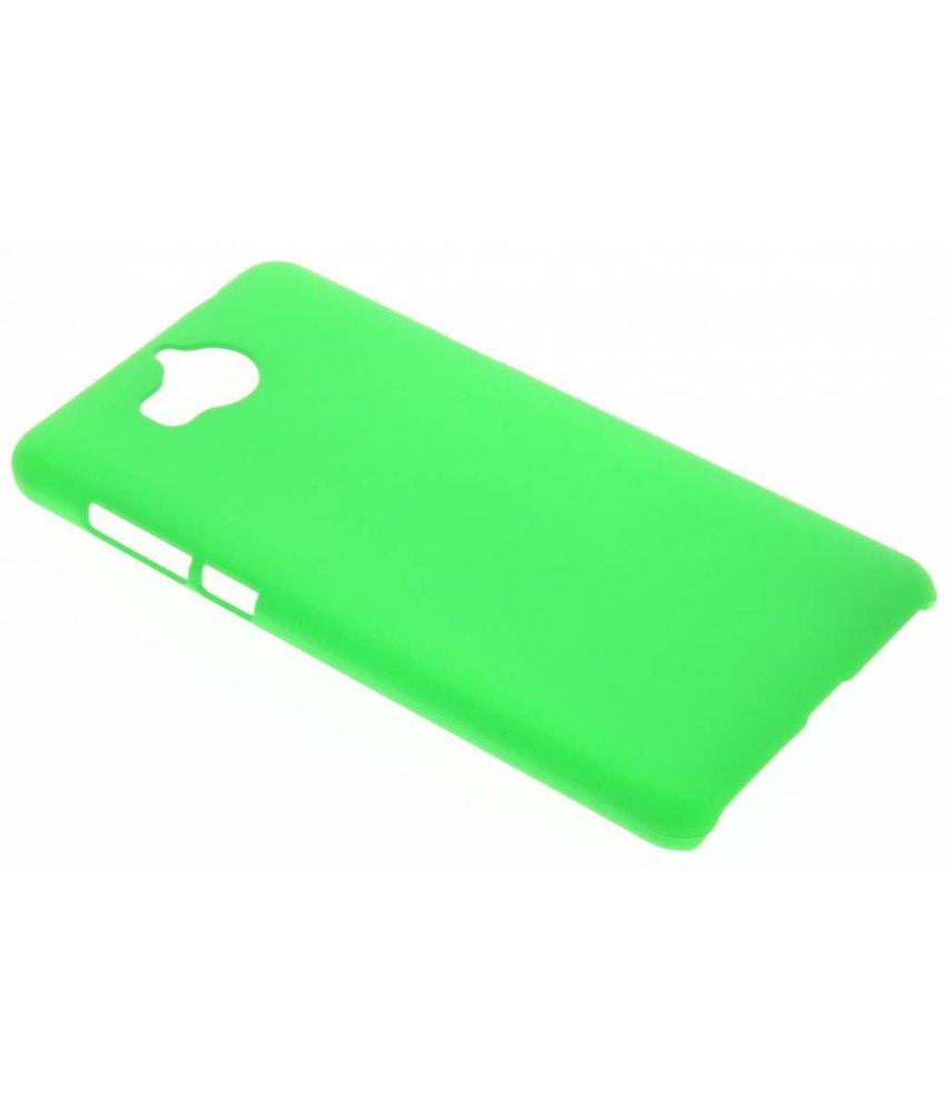 Groen effen hardcase hoesje Huawei Y6 (2017)