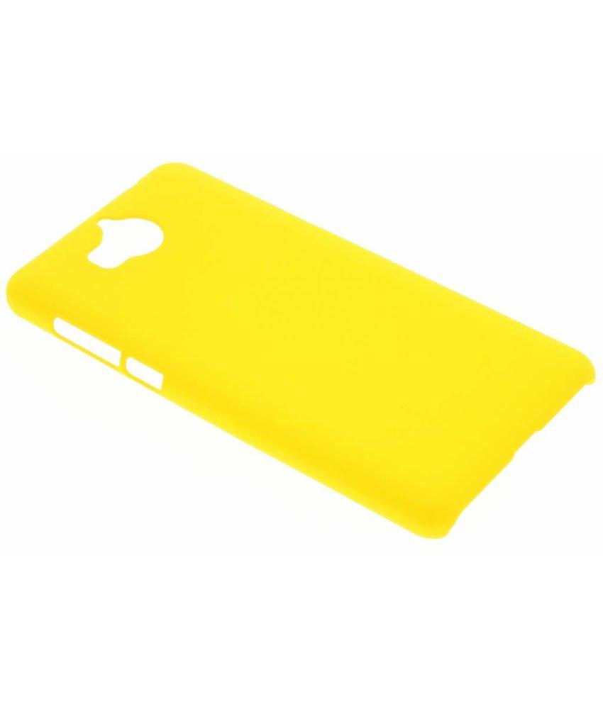 Geel effen hardcase hoesje Huawei Y6 (2017)