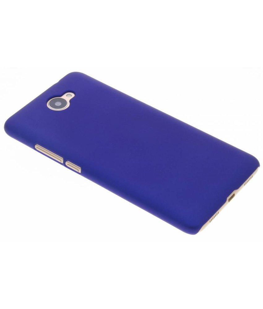 Blauw effen hardcase hoesje Huawei Y7 (2017)
