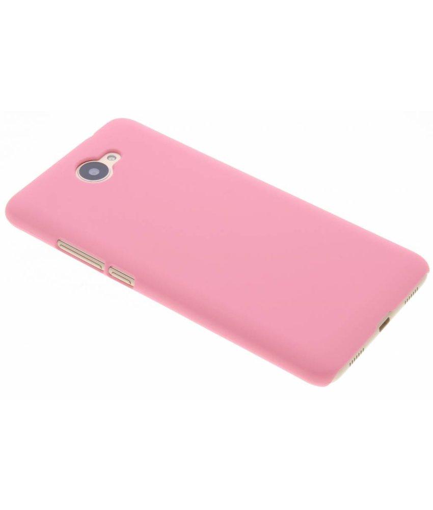 Roze effen hardcase hoesje Huawei Y7 (2017)