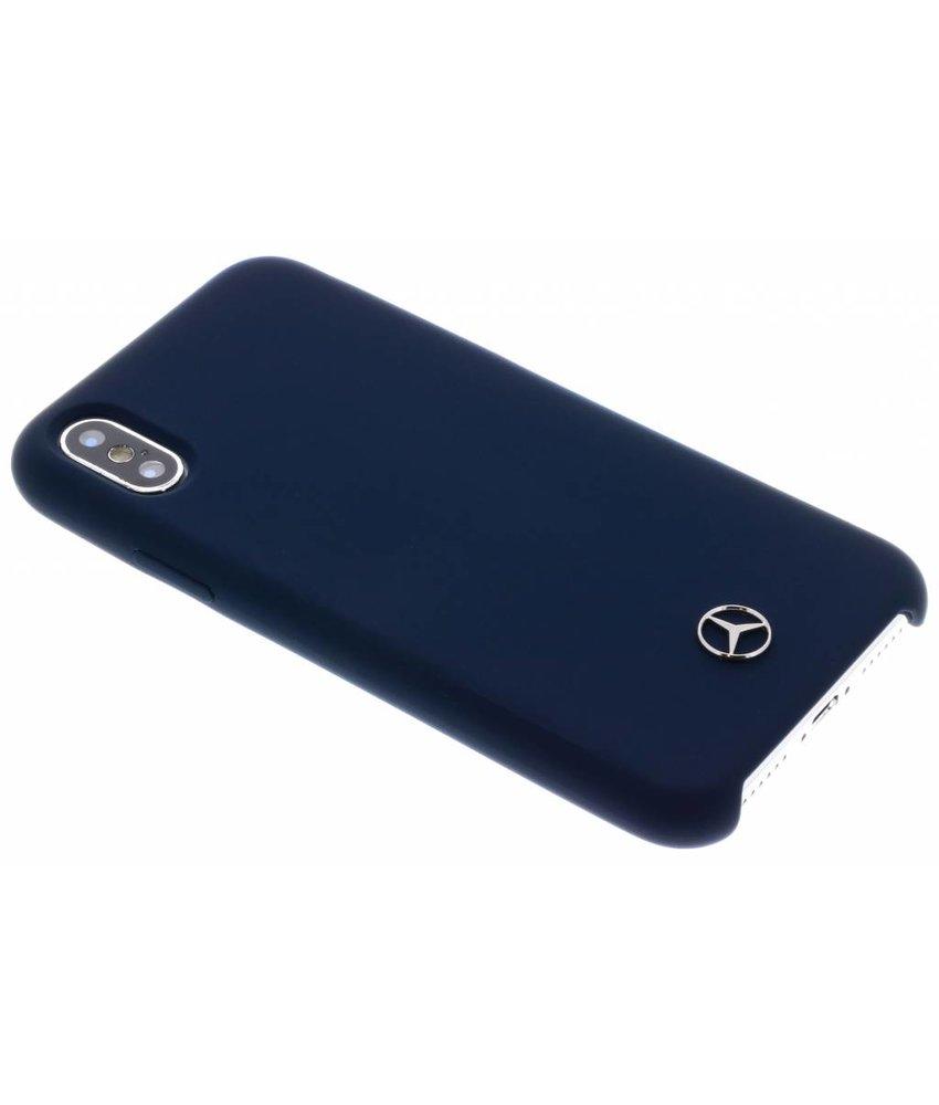 Mercedes-Benz Blauw Silicone Case iPhone X