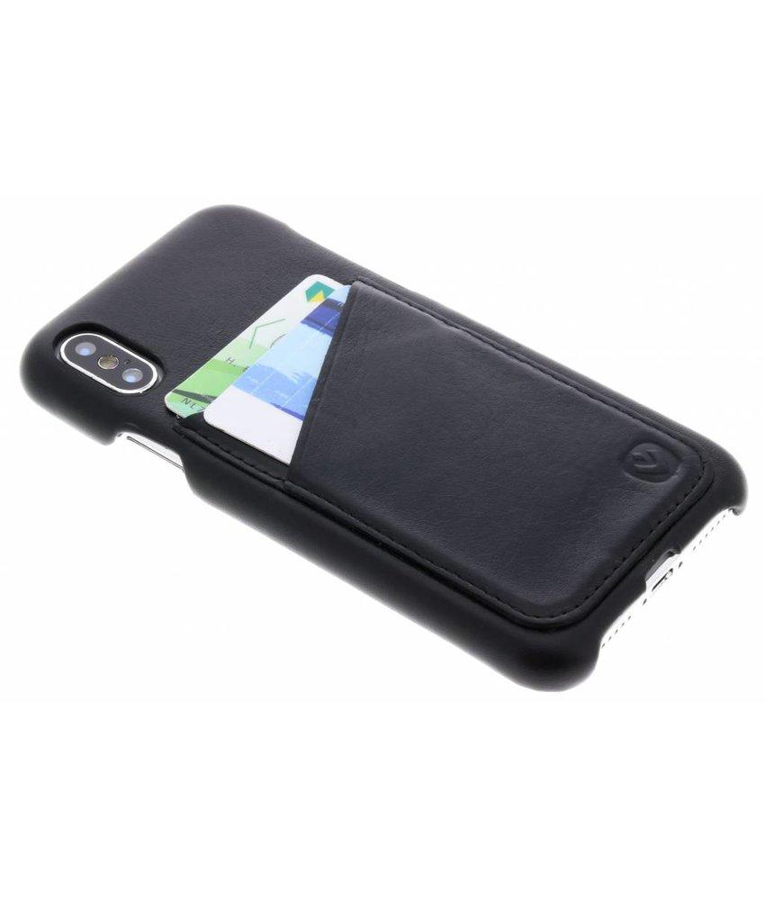 Valenta Zwart Back Cover Premium iPhone Xs / X