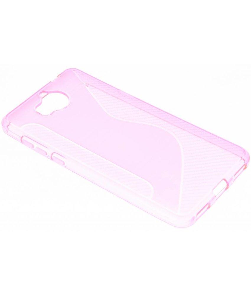 Roze S-line TPU hoesje Huawei Y6 (2017)