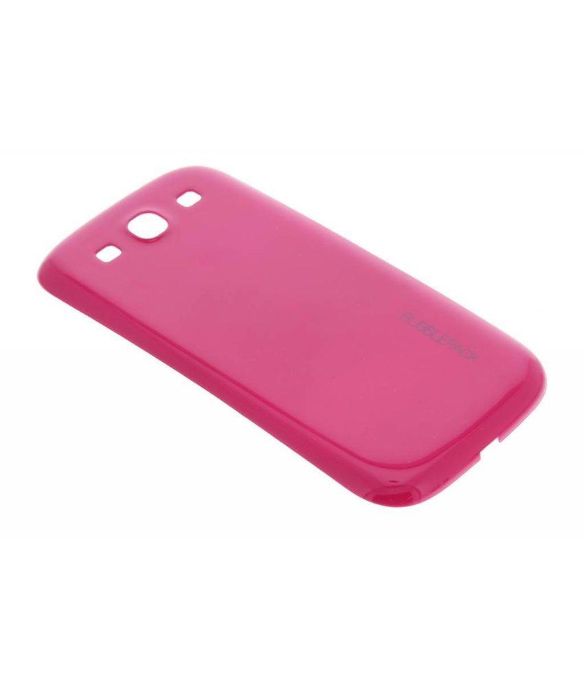 Fuchsia bubblepack batterij cover Samsung Galaxy S3 / Neo