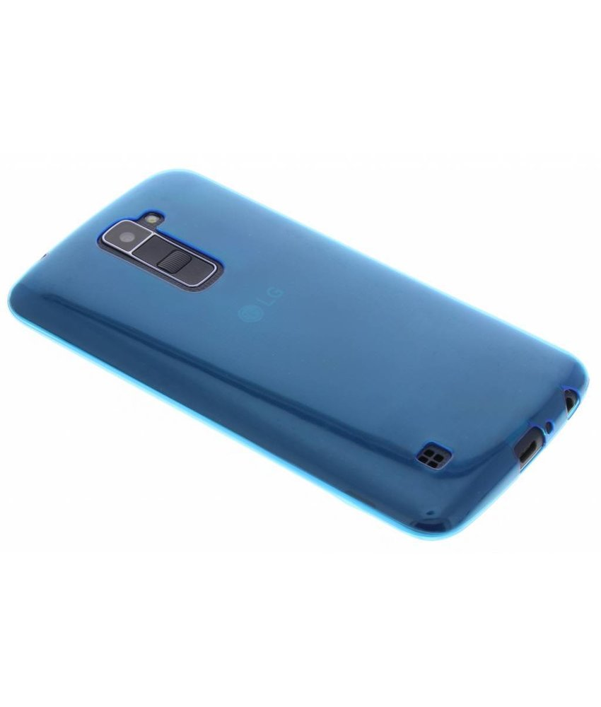 Blauw ultra thin transparant TPU hoesje LG K10