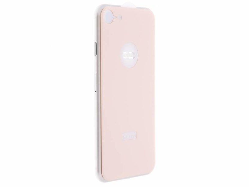 Rosé Gouden gehard glas achterkant protector voor de iPhone 8 / 7