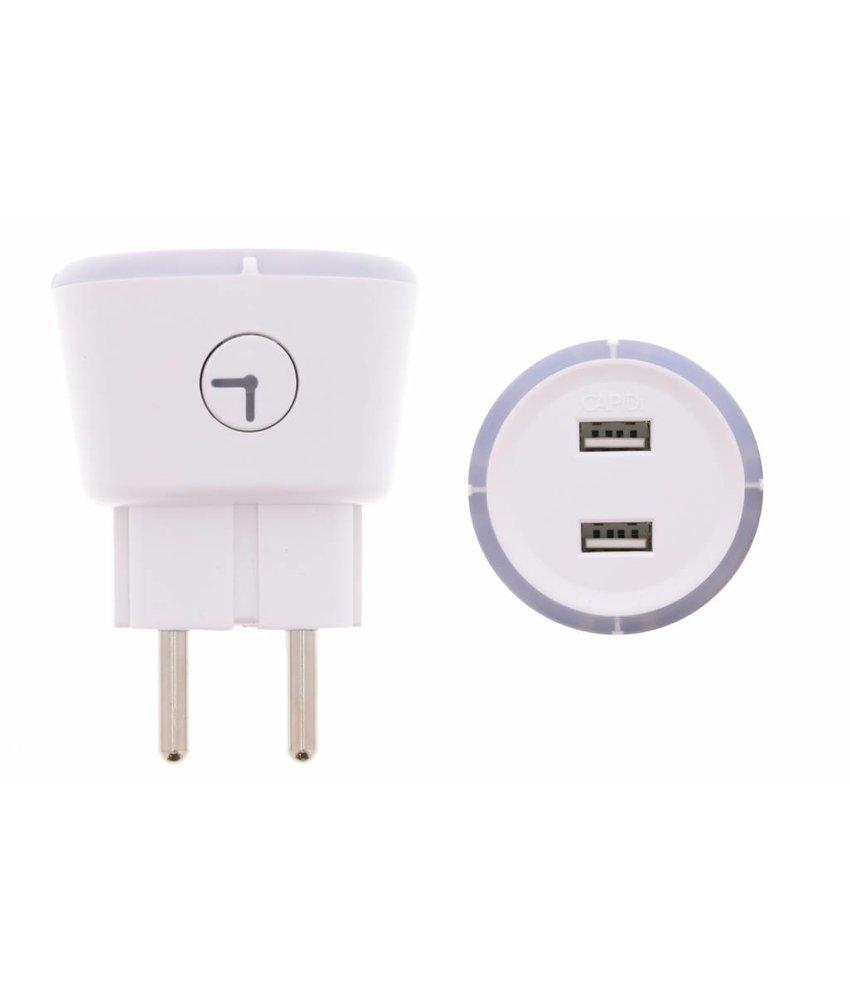 Capidi Dual USB Charger Timer - 3,4 ampère
