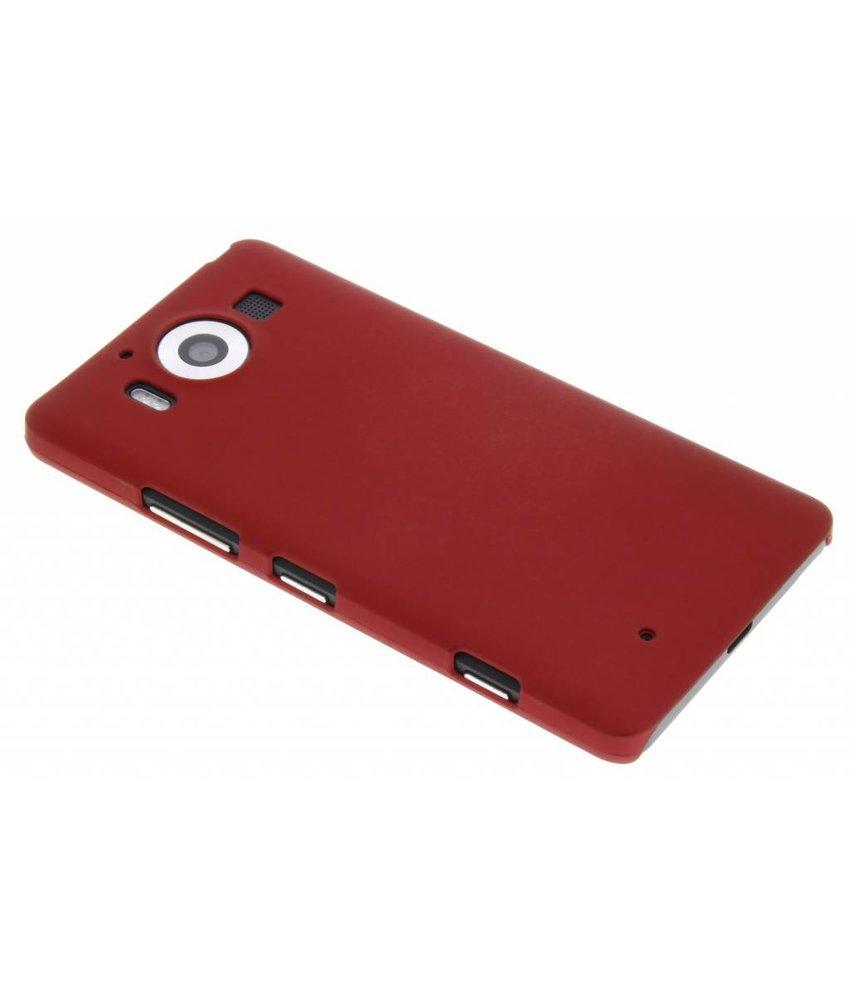 Rood effen hardcase hoesje Microsoft Lumia 950