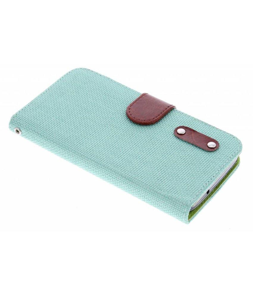 Groen linnen look TPU booktype hoes Huawei Y625