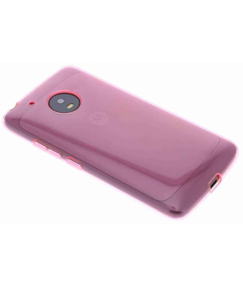 Roze transparant gel case Motorola Moto G5