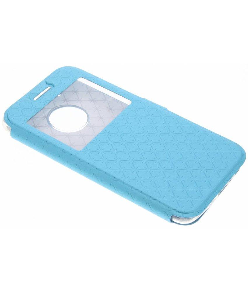 Blauw rhombus hoesje Motorola Moto G5 Plus