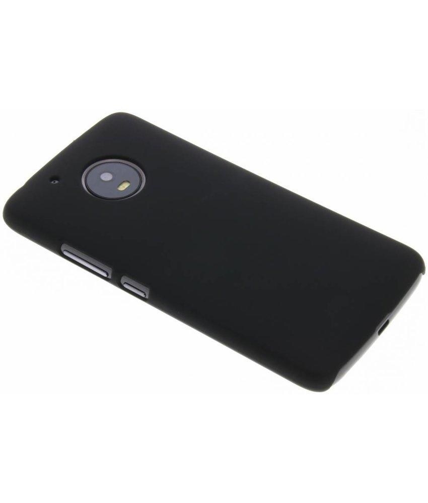 Zwart effen hardcase hoesje Motorola Moto G5