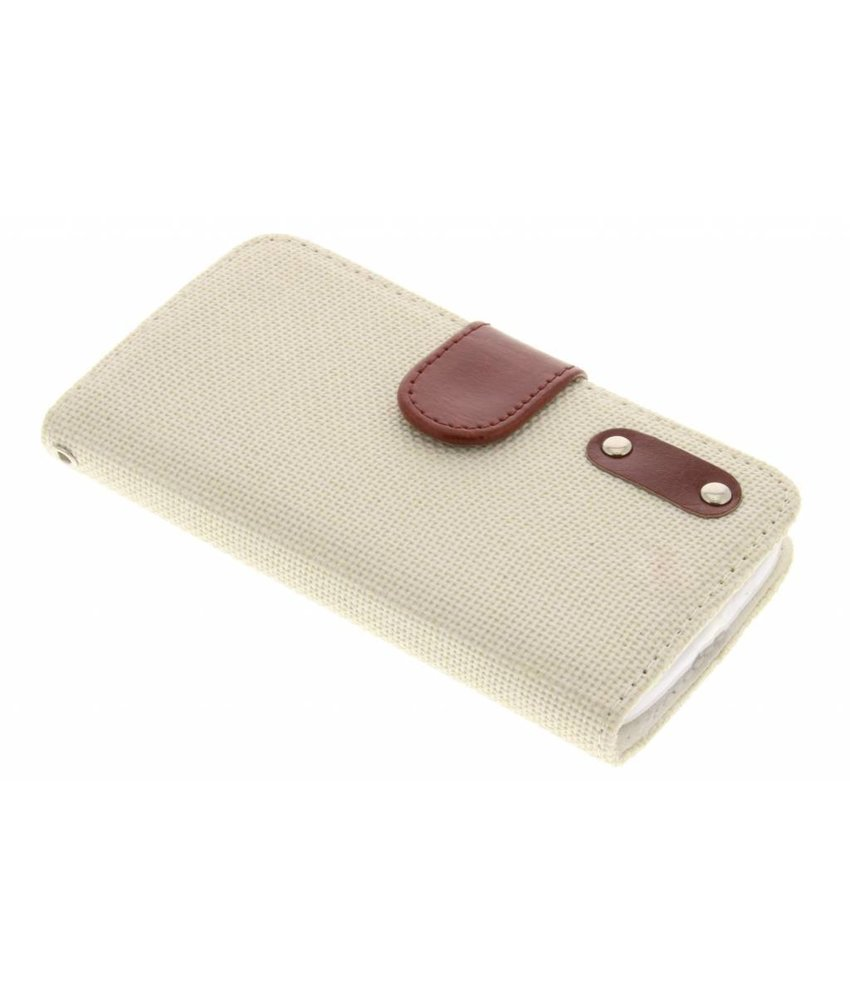 Linnen look TPU booktype hoes HTC One M9