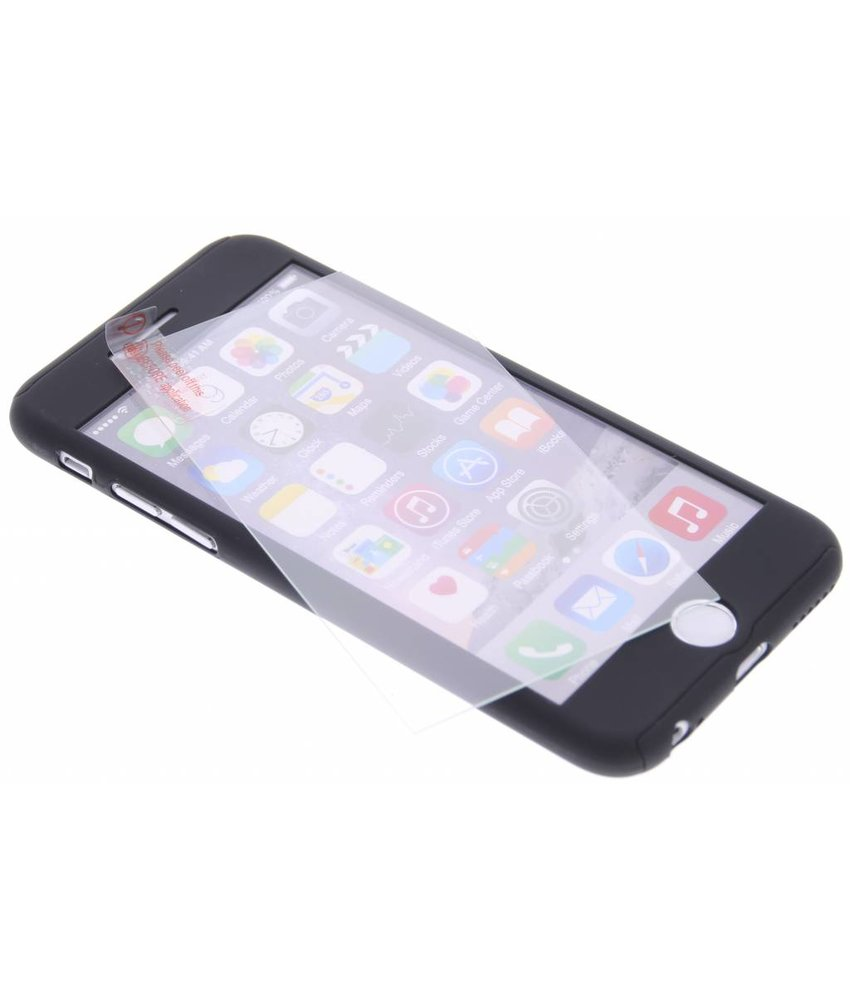 Zwart 360° effen protect case iPhone 6(s) Plus