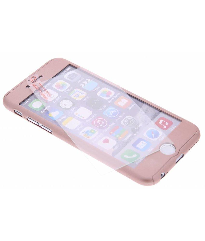 Metallic roze 360° effen protect case iPhone 6 / 6s