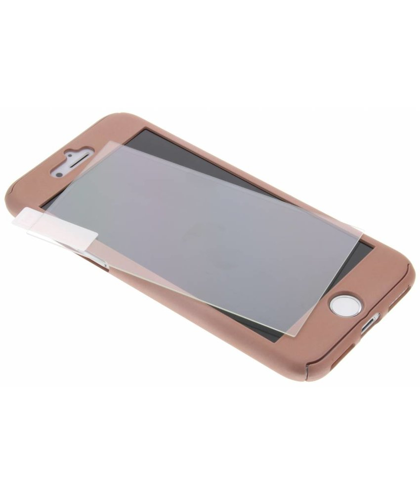 Roze 360° effen protect case iPhone 8 Plus / 7 Plus