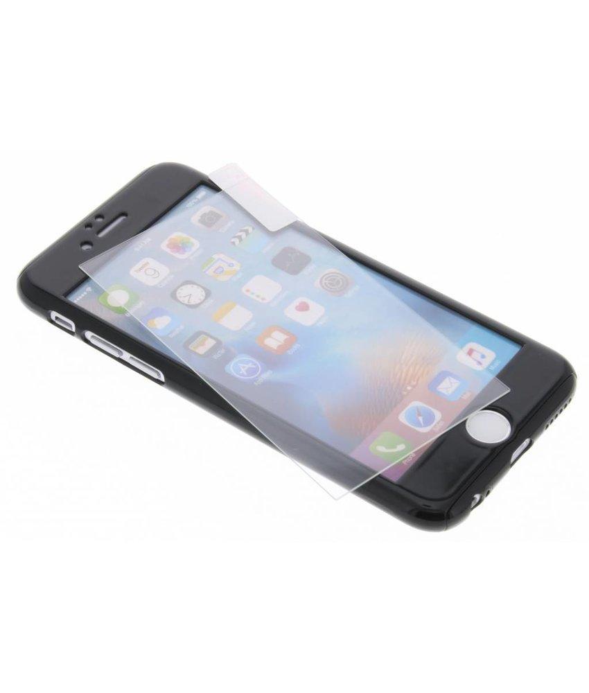 Zwart 360° effen protect case iPhone 6 / 6s