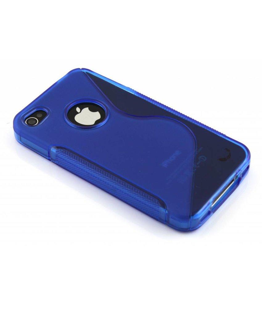 Blauw S-line TPU hoesje iPhone 4(s)