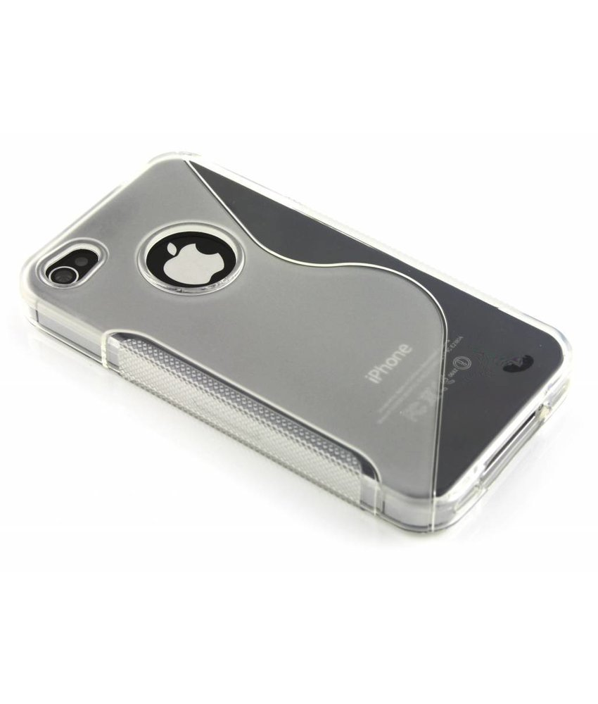 Transparant S-line TPU hoesje iPhone 4(s)