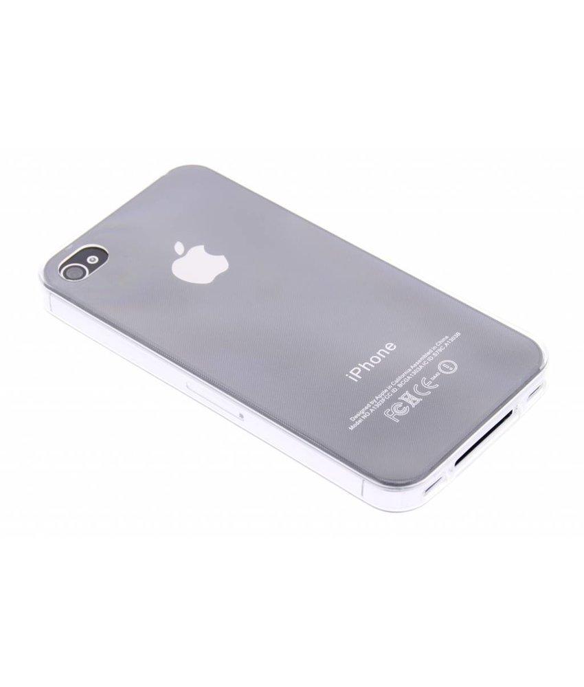 Ultra thin transparant TPU hoesje iPhone 4 / 4s