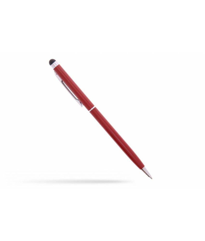 Rood balpen met stylus