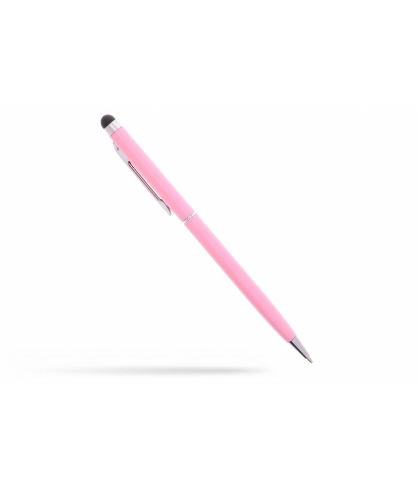 Roze balpen met stylus