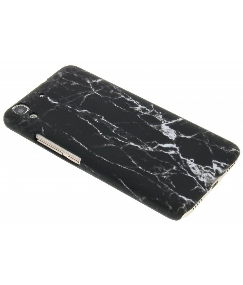 Zwart marmer look hardcase hoesje Huawei Y6