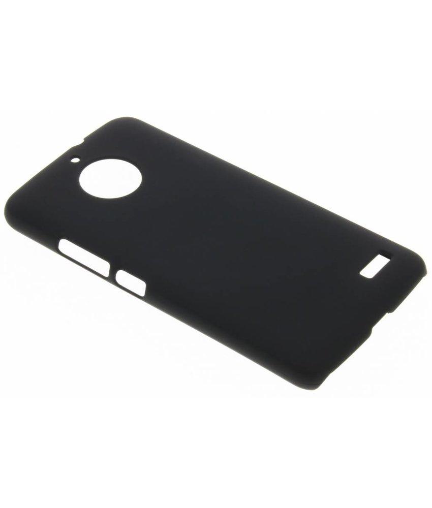 Zwart effen hardcase hoesje Motorola Moto E4