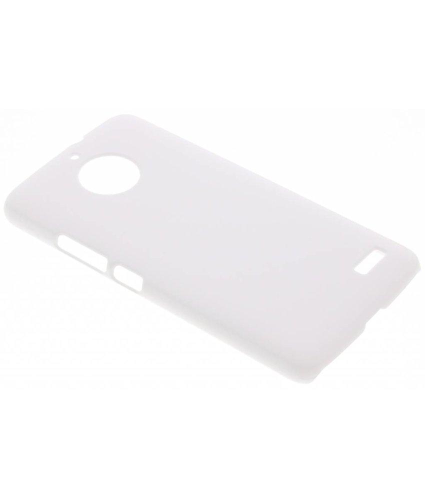 Wit effen hardcase hoesje Motorola Moto E4