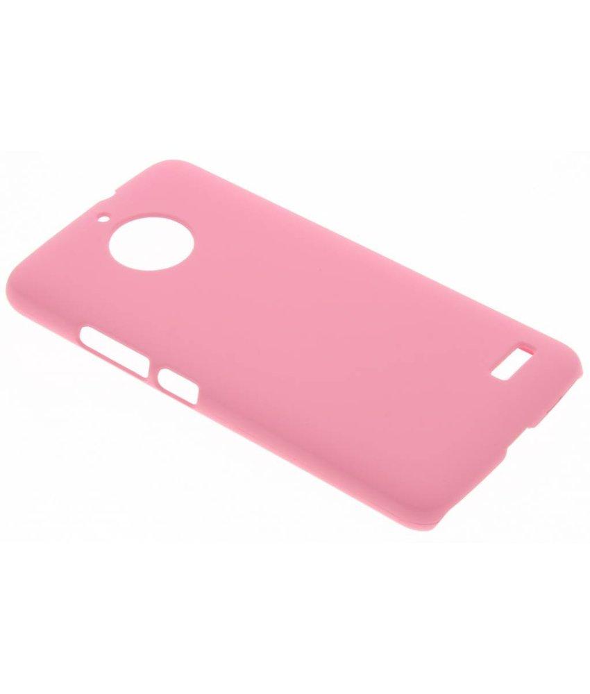 Roze effen hardcase hoesje Motorola Moto E4