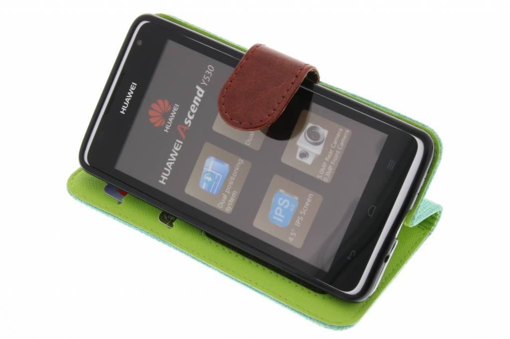 Aspect Lin Violet Cas Booktype Tpu Pour Huawei Ascend Y530 mPdNTodL
